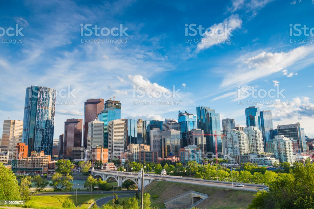 Calgary City Skyline stock photo