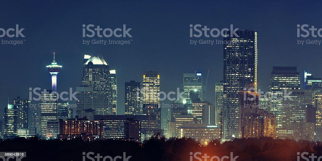 Calgary cityscape stock photo
