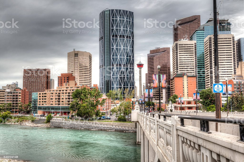 Calgary Downtown in HDR - foto stock