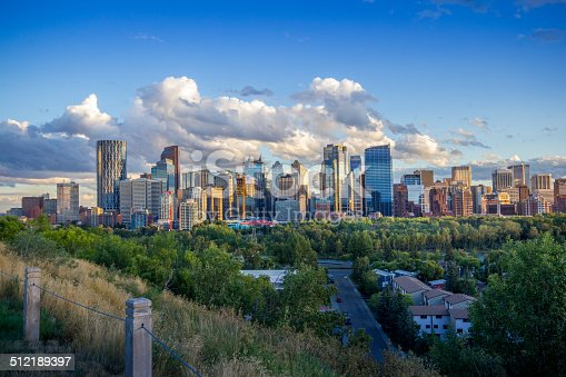 The skyline of downtown Calgary, Alberta, Canada