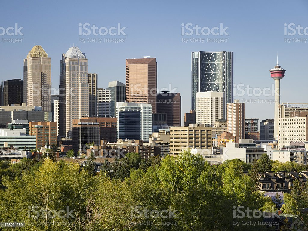 Calgary Downtown vista stock photo
