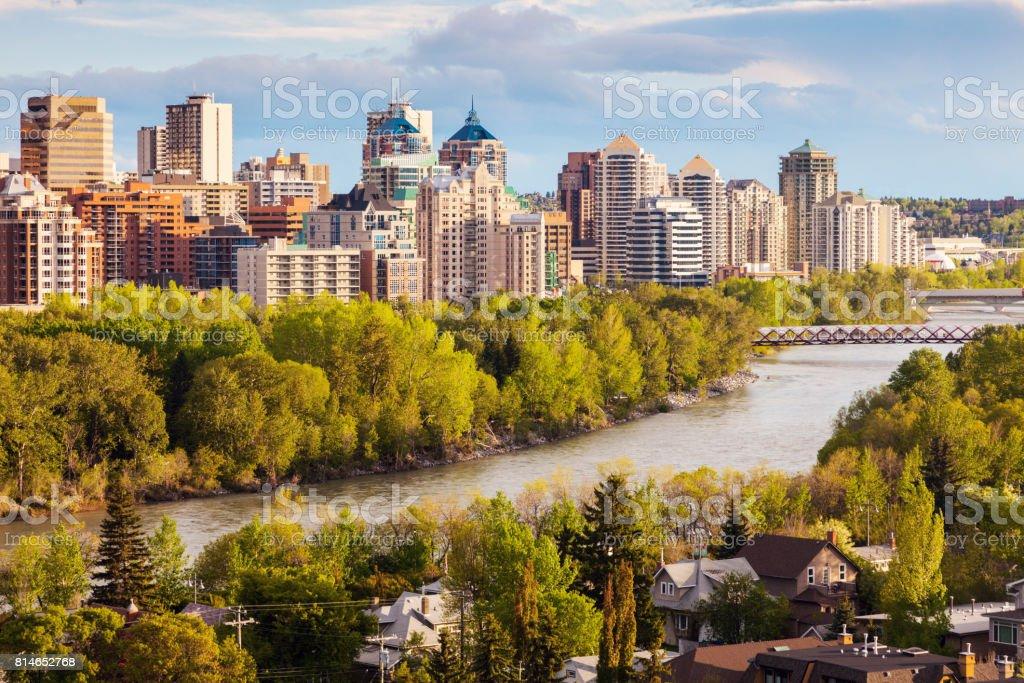 Calgary - panorama of city - foto stock