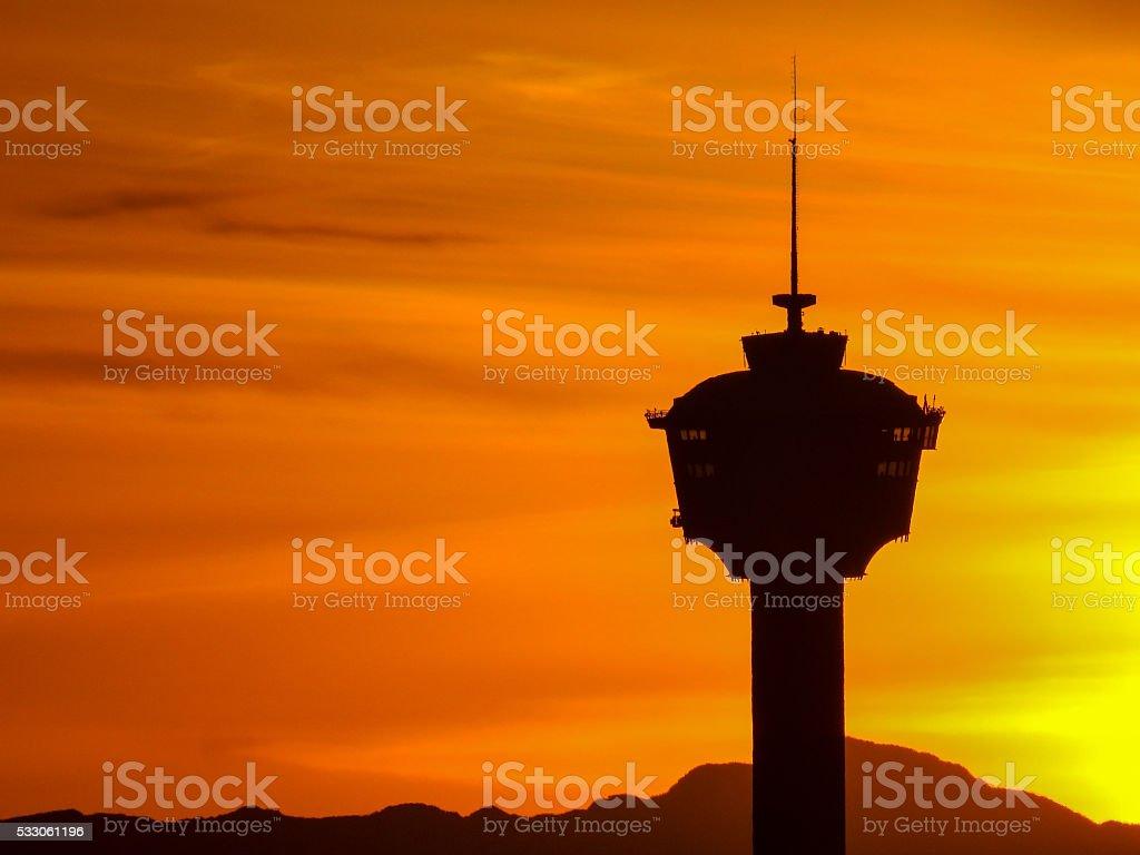 Calgary Sunset stock photo