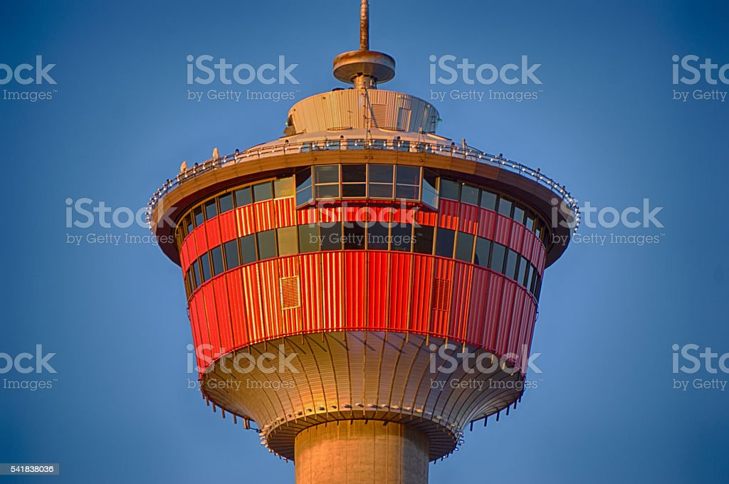 Calgary Tower Close Up stock photo