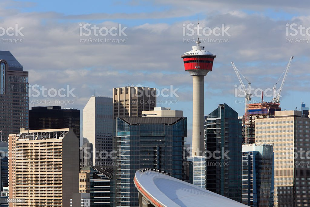 Calgary Towers Of Commerce Close Up stock photo