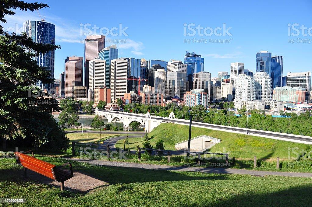 Calgary urban park royalty-free stock photo