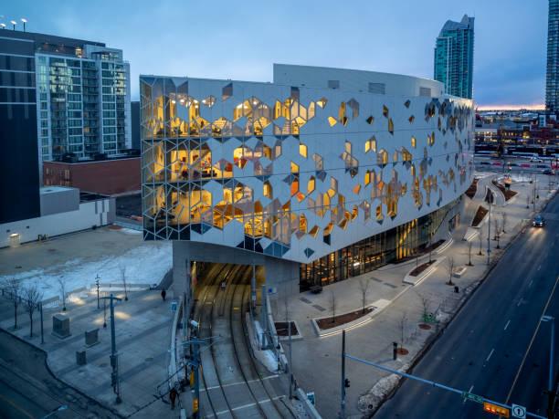 Calgary's central public library - foto stock