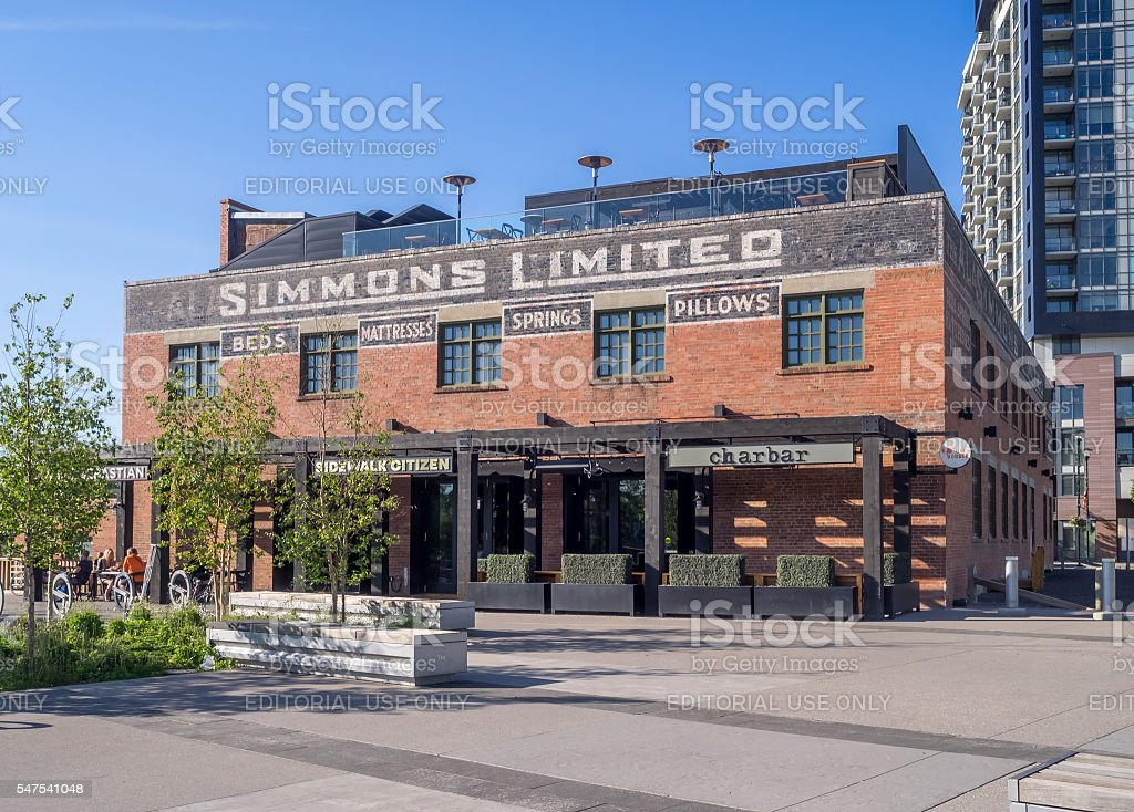 Calgary's  East Village stock photo