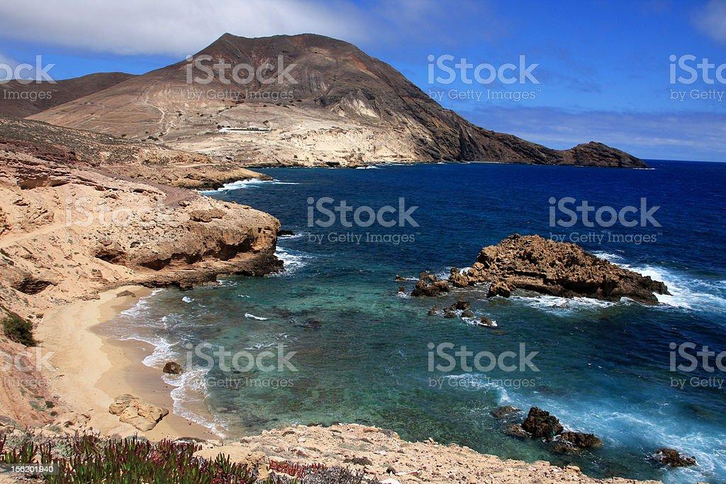 Calhau da Serra landscape, Porto Santo stock photo