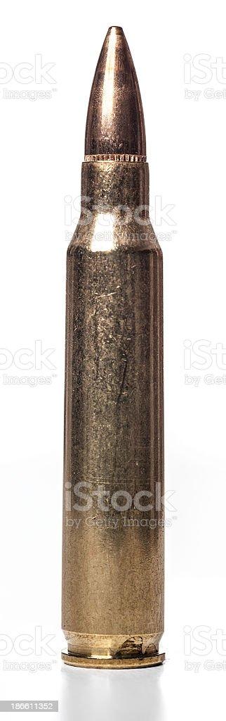 AR-15 caliber bullet stock photo