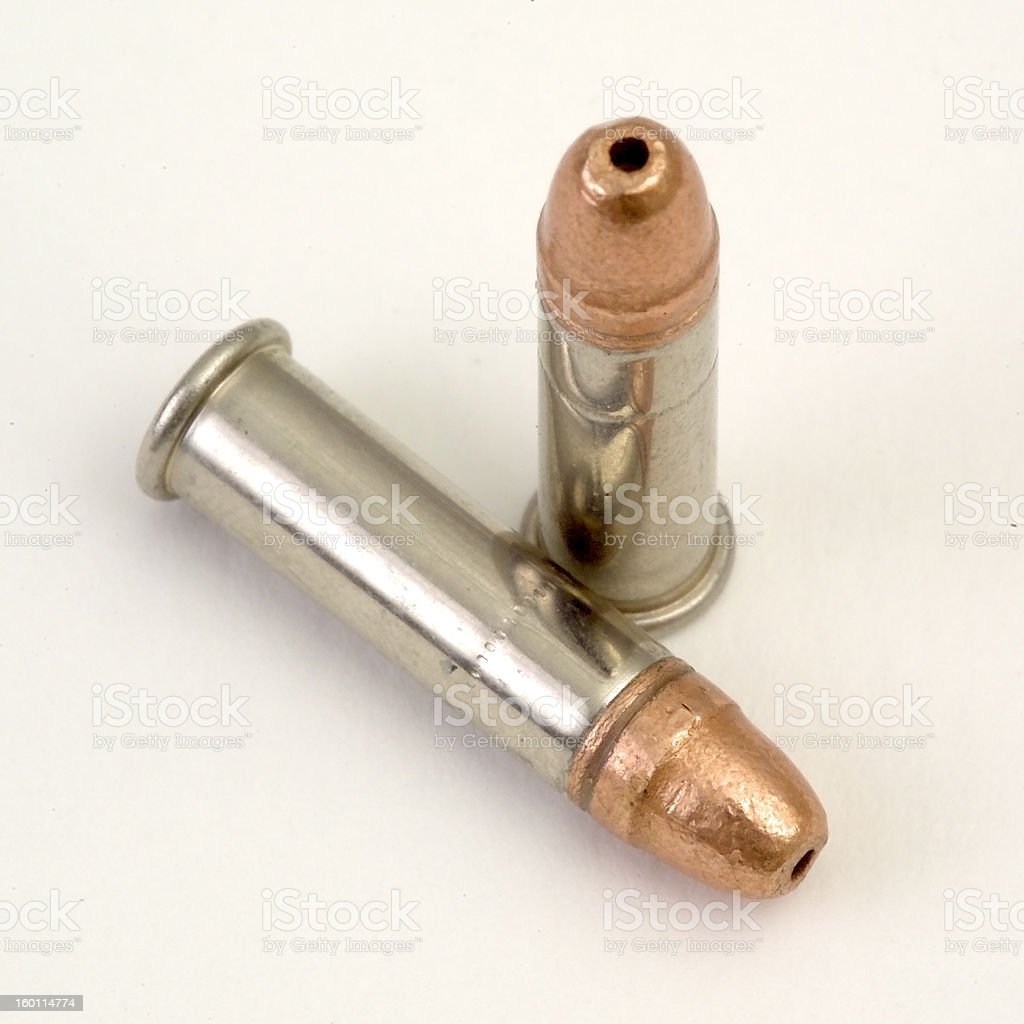 .22 Caliber Hollow Point Bullets stock photo