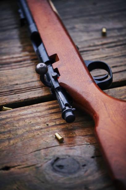 22 caliber rifle stock photo