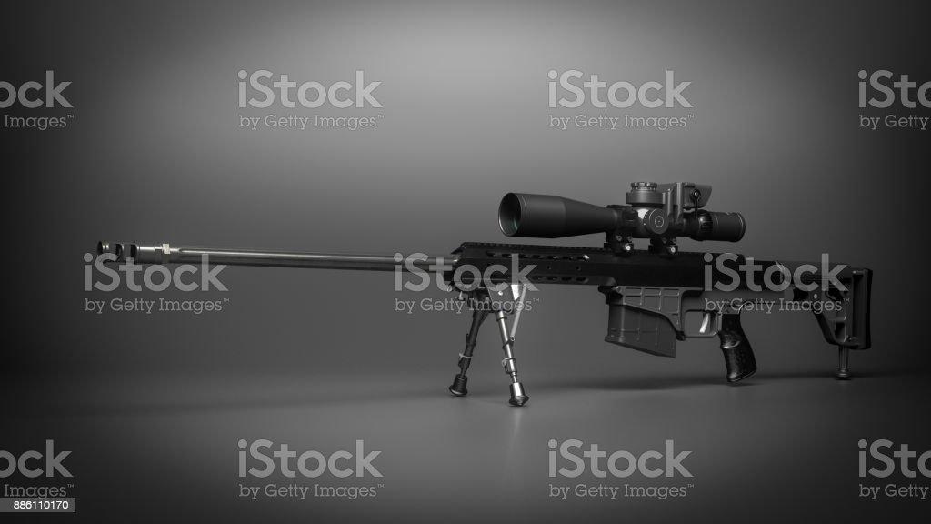 .338 Caliber Sniper Rifle stock photo