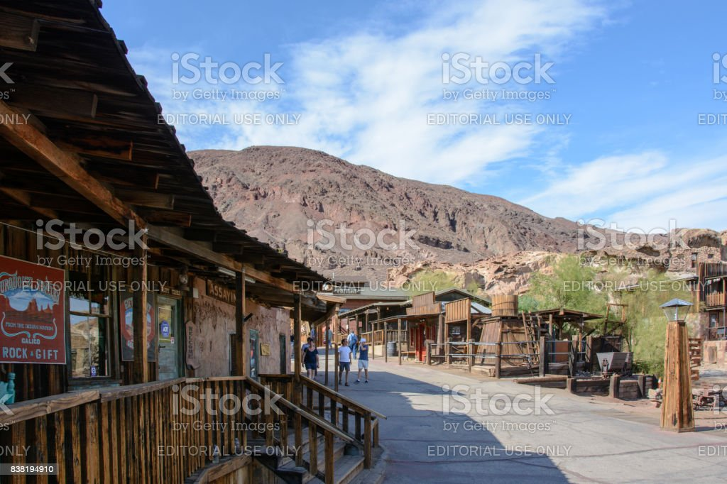 Calico ghost town in California, Mojave stock photo