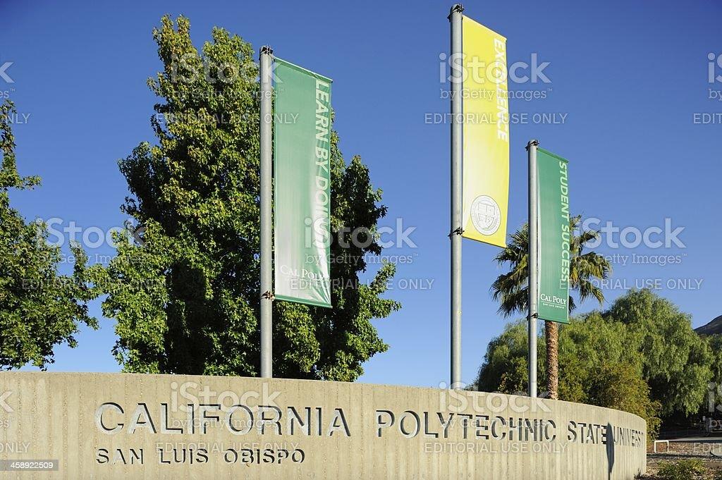 Califonia Polytechnic State University sign stock photo