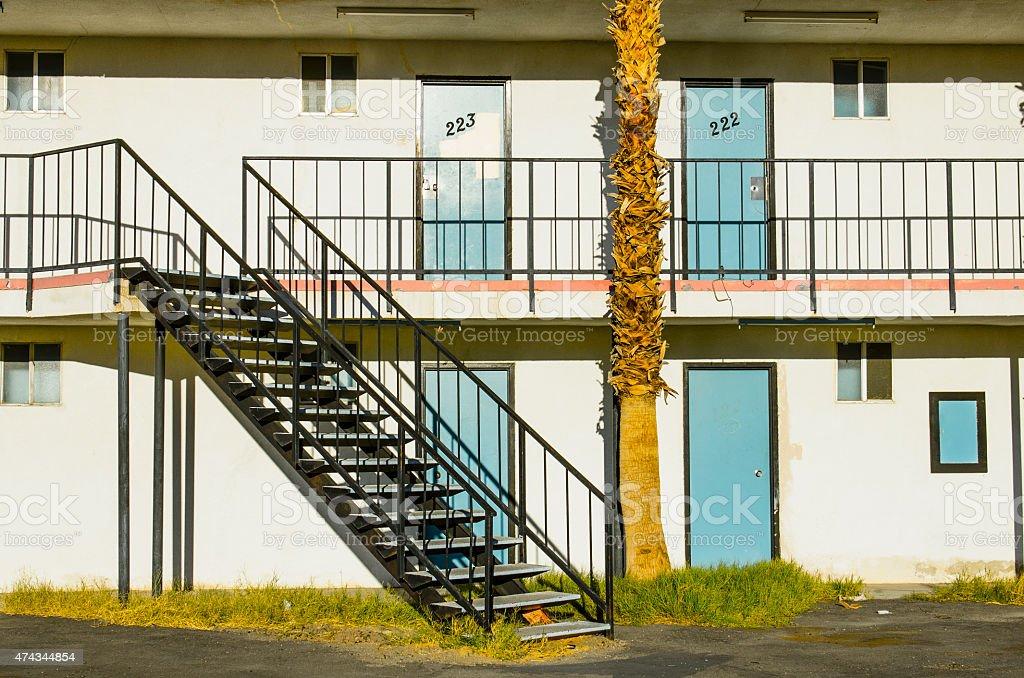 Californa desert motel stock photo