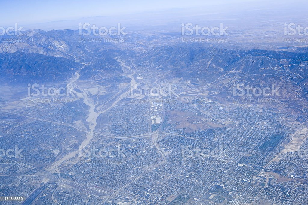California aerial view royalty-free stock photo