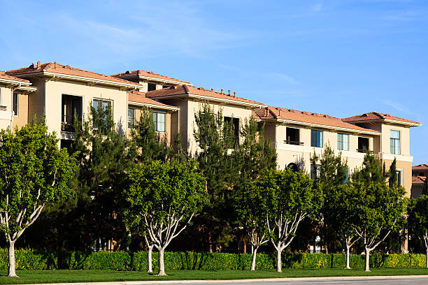 California Apartment Building stock photo