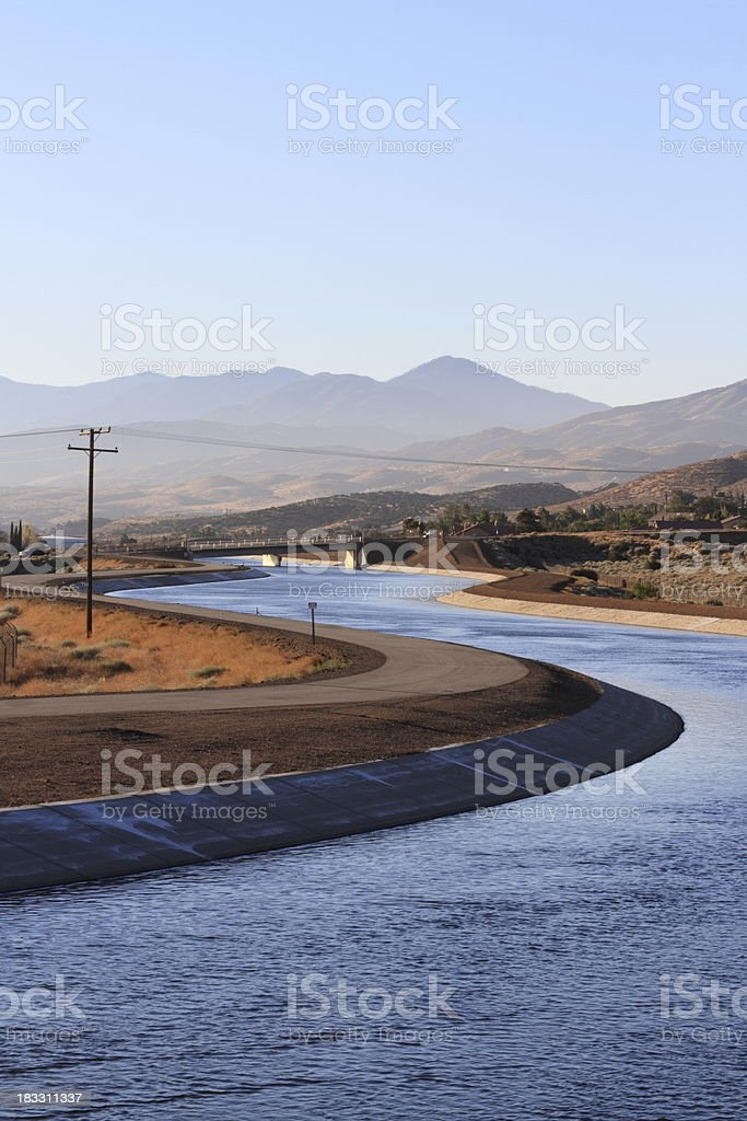 California Aqueduct Carrying Water to Los Angeles stock photo