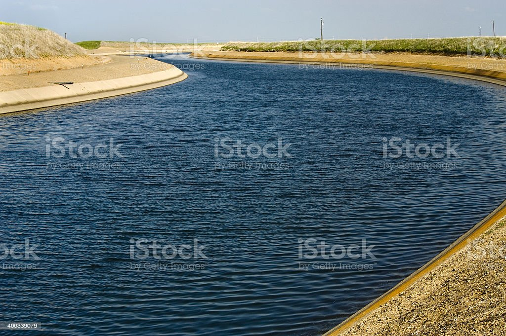 California Aqueduct, Modesto, CA stock photo
