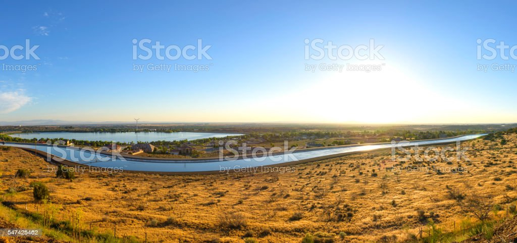 California Aqueduct Panorama stock photo
