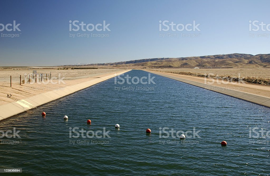 California aqueduct stock photo