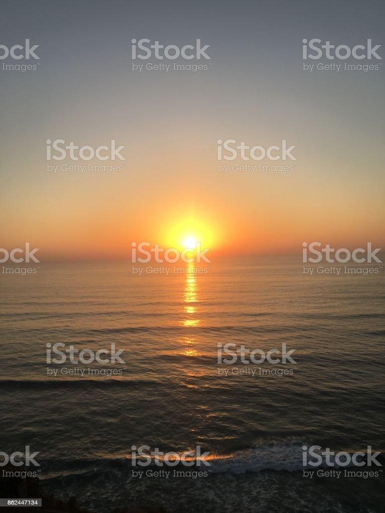 California Beach Sunset stock photo