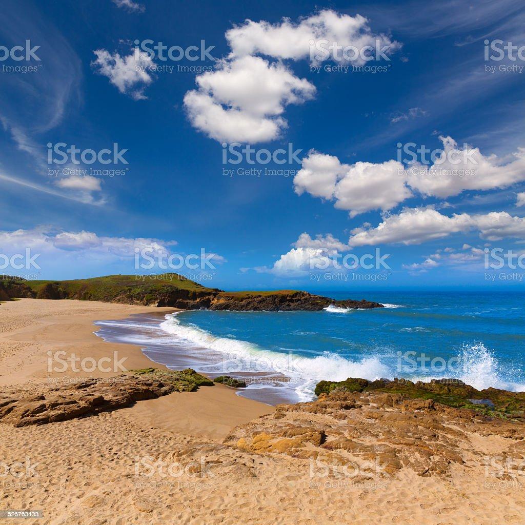 California Bean Hollow State beach in Cabrillo Hwy stock photo