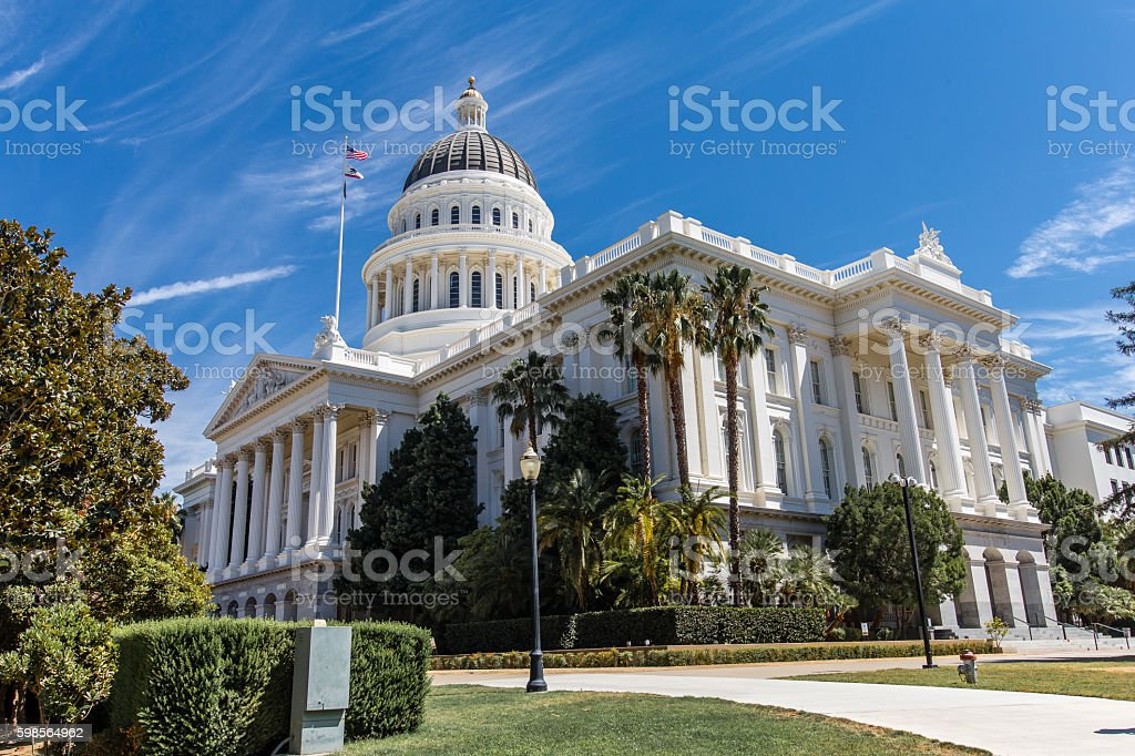 California Capital building in Sacramento stock photo