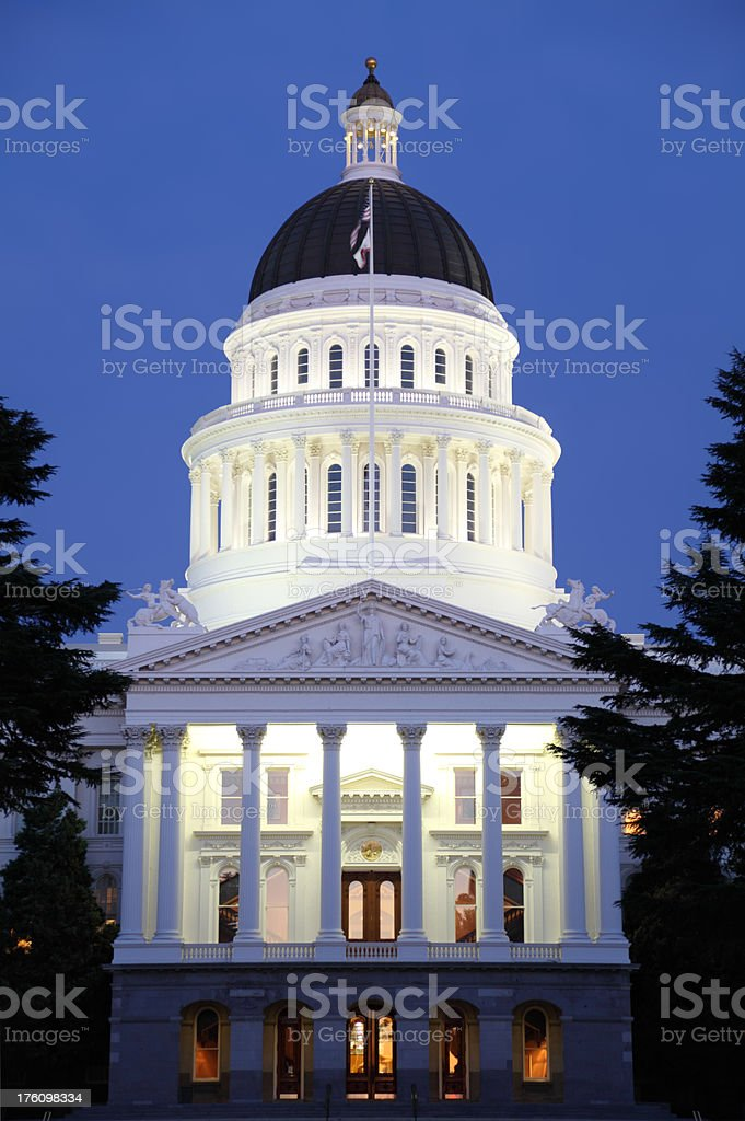 California Capital Building royalty-free stock photo