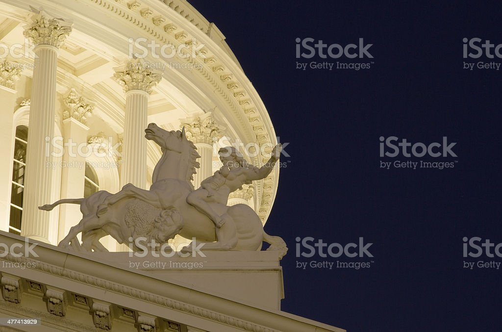 California Capitol Building Detail stock photo