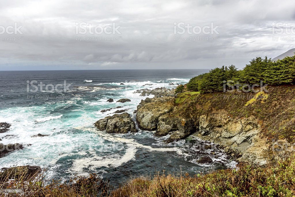 California Central Coast at Big Sur royalty-free stock photo