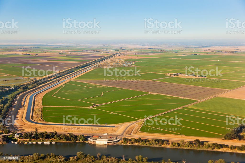 California Central Valley Agriculture stock photo