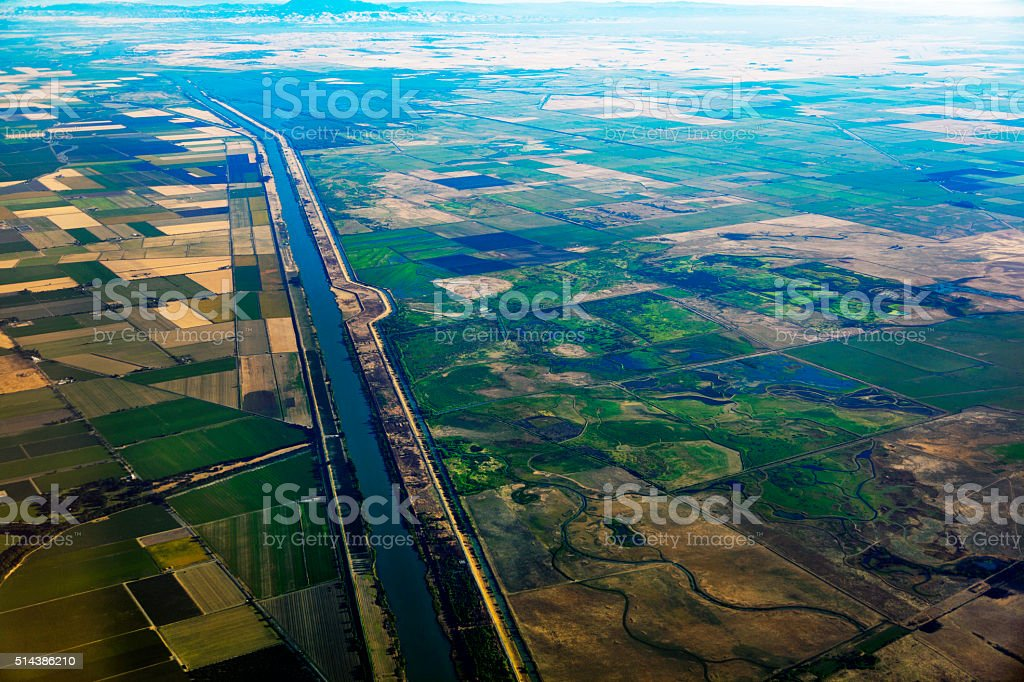 California Central Valley near Sacramento stock photo