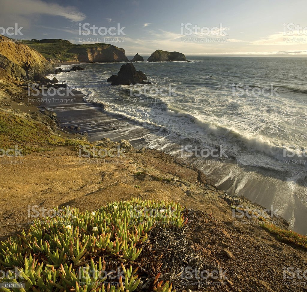 California Cliffs at Sunset stock photo