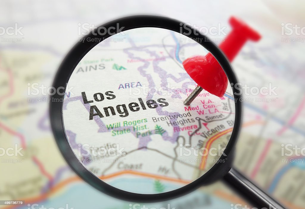 LA California closeup stock photo
