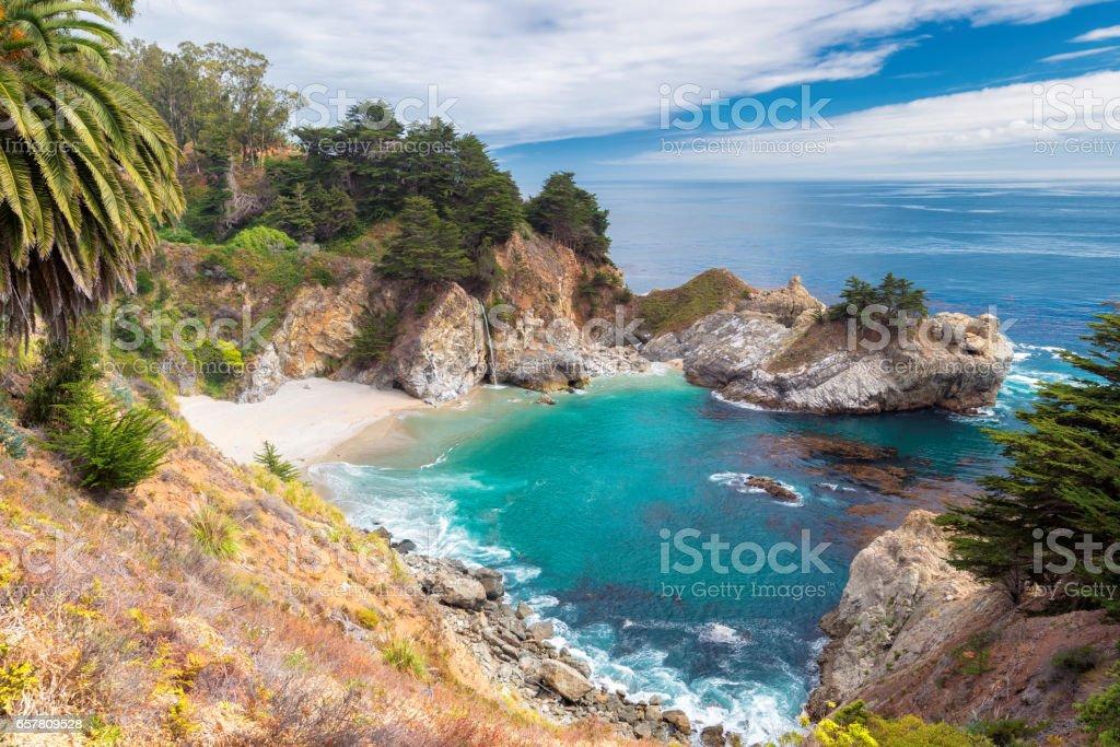 California coast, Julia Pfeiffer Burns State Park stock photo