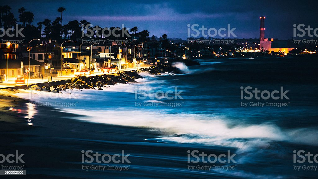 California coast, Oceanside town. stock photo