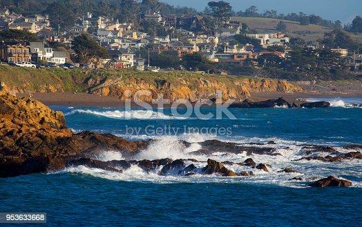 The Pacific Ocean Coastline at Cambria, California