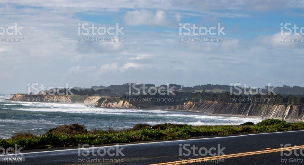 California Coastal Cliffs - Royalty-free Beach Stock Photo