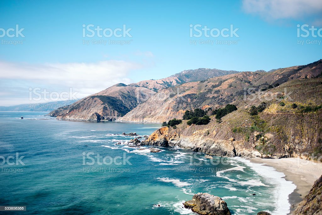 California Coastal Road stock photo