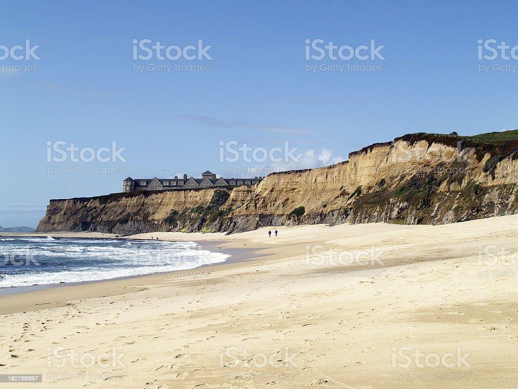 California Coastline at Half Moon Bay stock photo