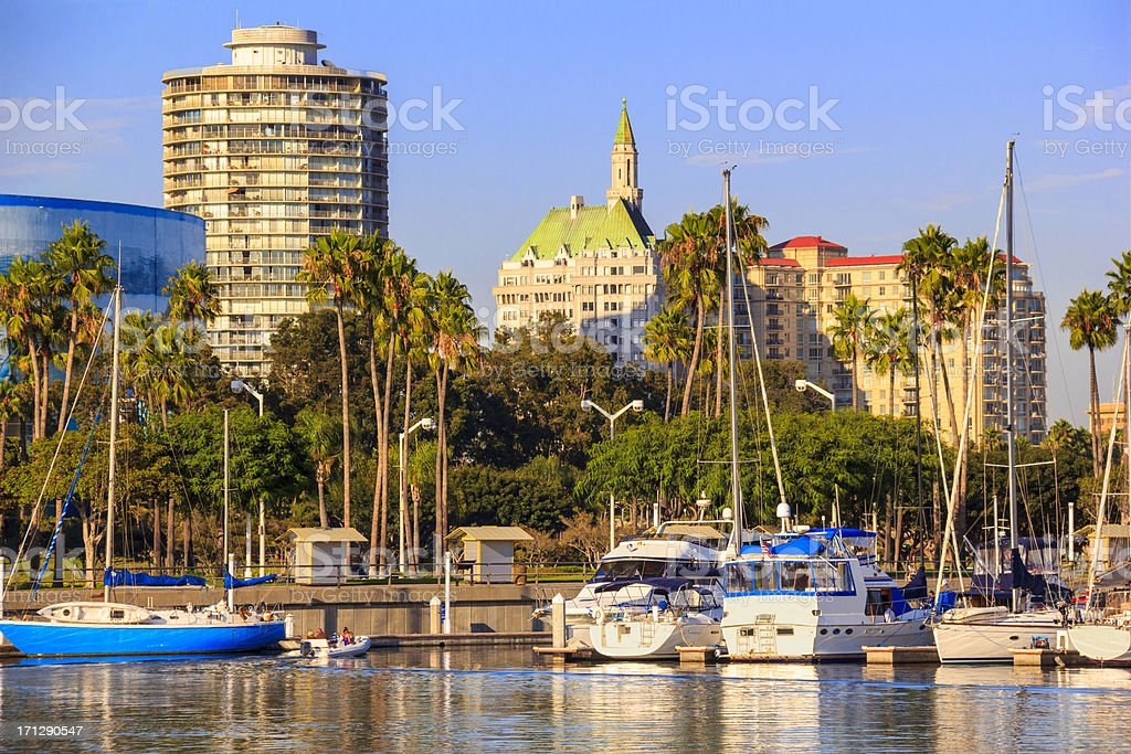 California Coastline at Long Beach (P) royalty-free stock photo