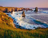 Rocky shoreline of Big Sur area of California