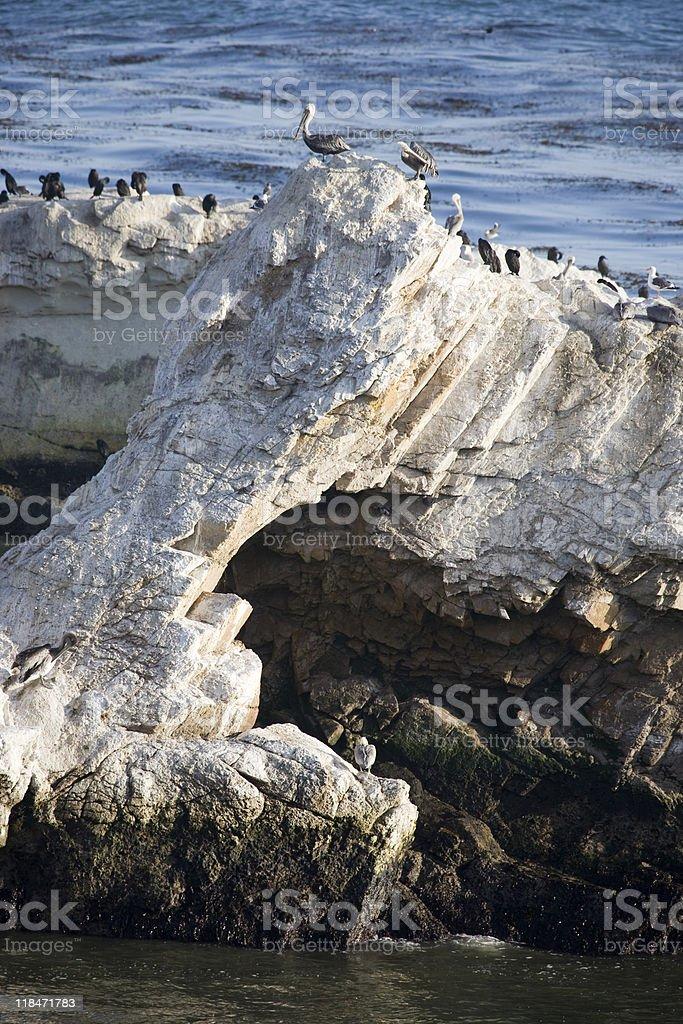 California coastline rocks royalty-free stock photo