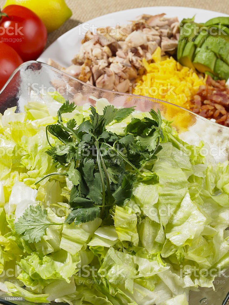 California Cobb Salad Preparation royalty-free stock photo