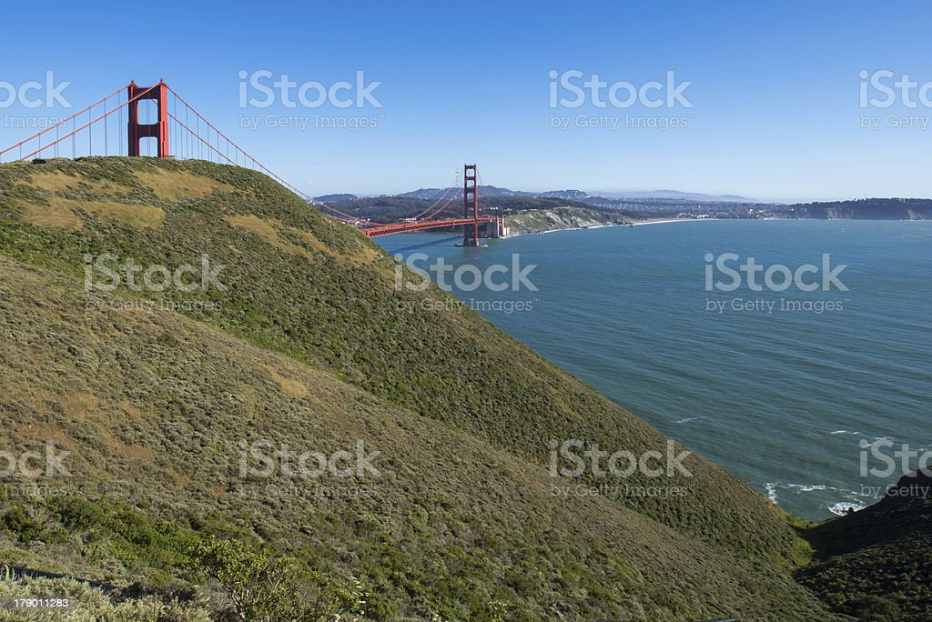 California Country with Golden Gate Bridge royalty-free stock photo