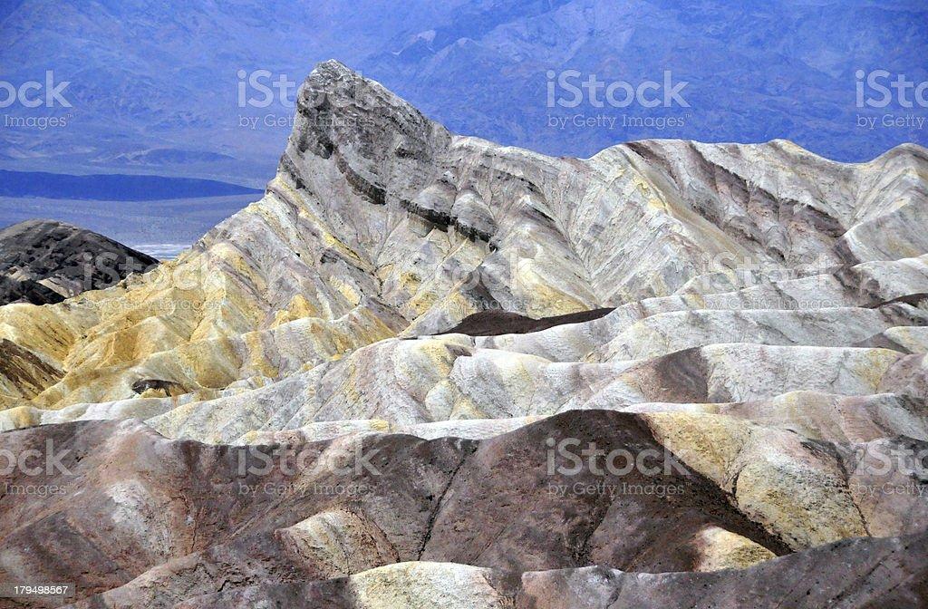 USA, California, Death Valley NP: Zabriskie Point stock photo