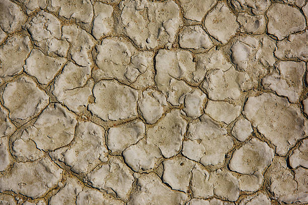 California Drought Induced Dry Ground Background stock photo
