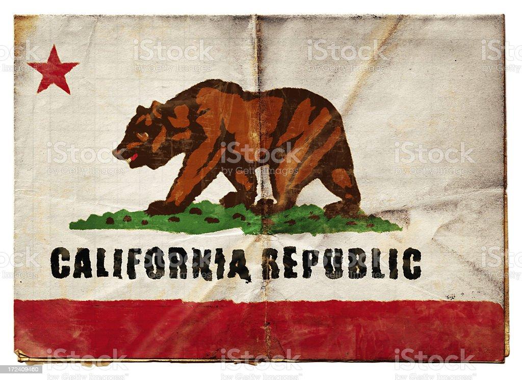 California flag (XXL) stock photo